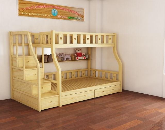 giường tầng gỗ GTG05