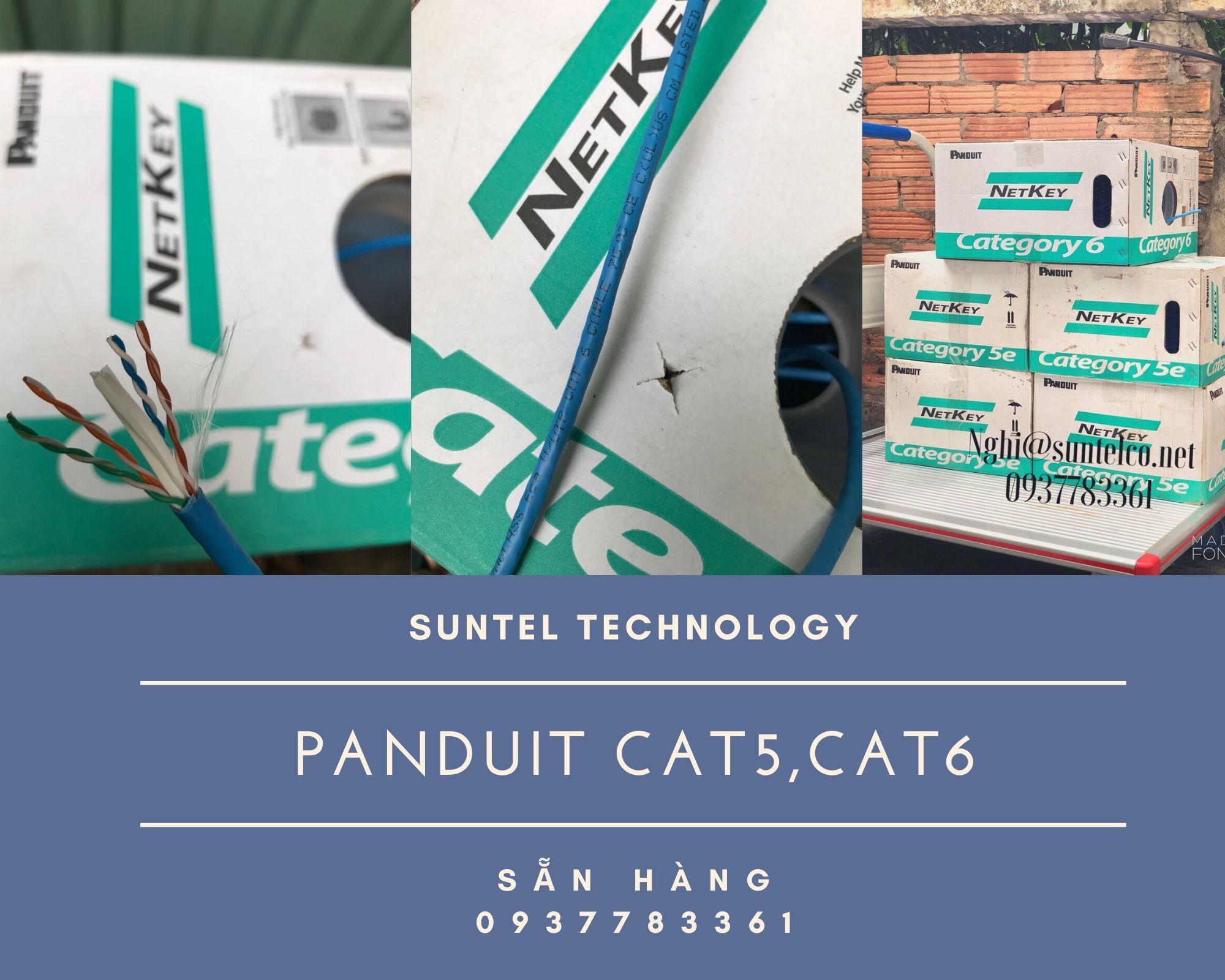Phân phối cáp mạng Panduit CAT 5e, CAT 6 Chính Hãng