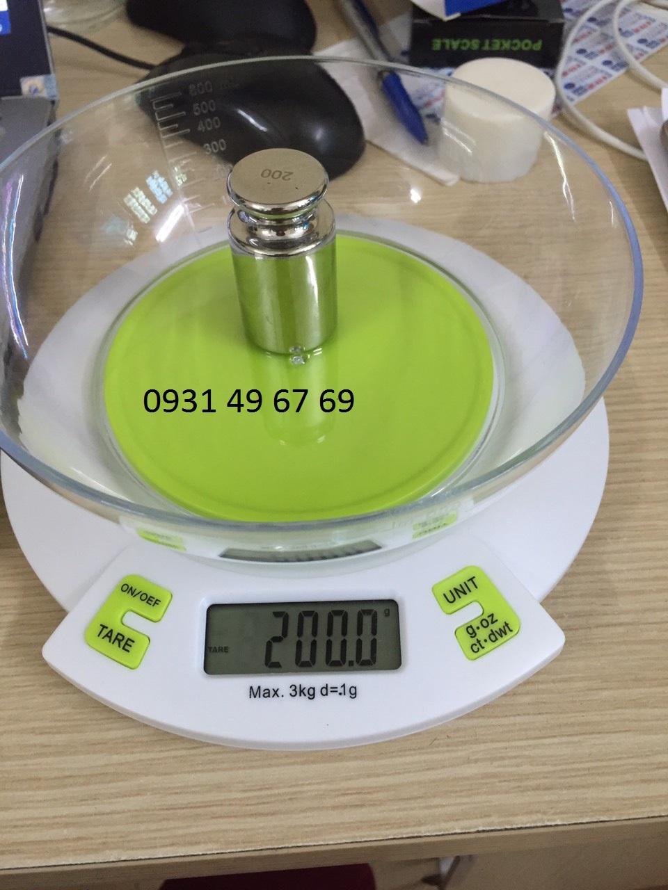Cân điện tử nhà bếp 3kg, cân nhà bếp làm bánh 3kg