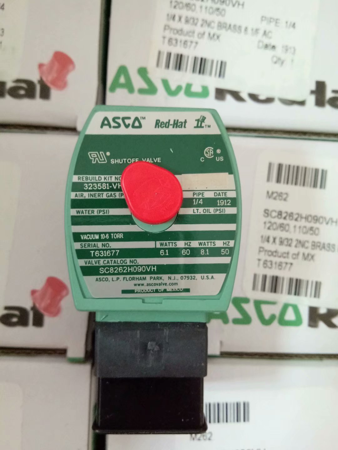 ASCO RED-HAT 1/4 in SC8262H090VH