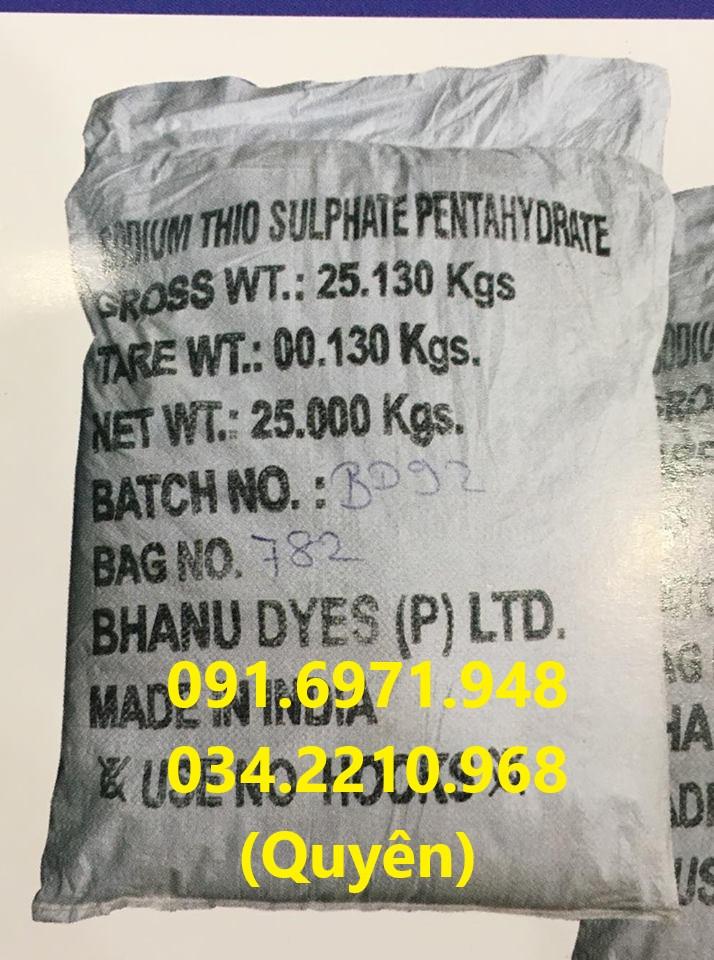 Sodium thiosulphate (Na2S2O3) 99%Ấn Độ khử độc ao nuôi giá sỉ