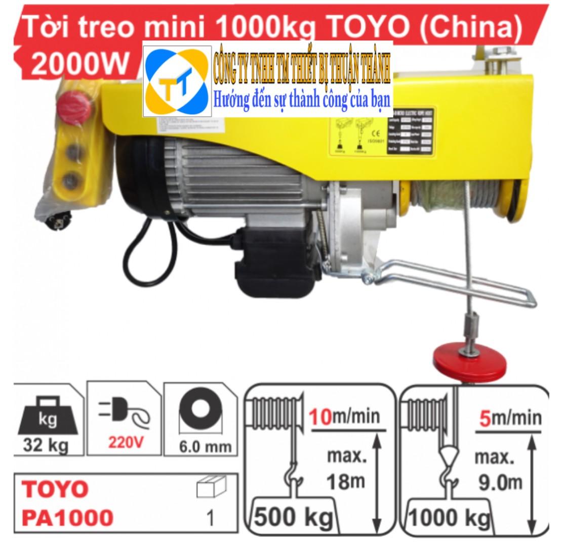 Tời điện mini 1000kg TOYO