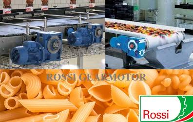 Ứng dụng động cơ hộp số ROSSI cho dây chuyền thực phẩm