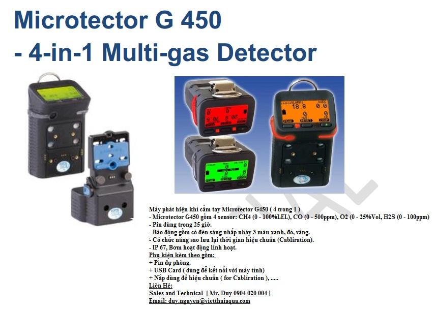 Thiết bị đo khí đa năng cầm tay hiệu Microtector G450 - Chính hãng GfG - Sản xuất 100% từ Đức
