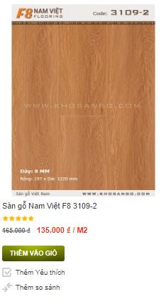 Sàn gỗ Nam Việt F8 3109-2