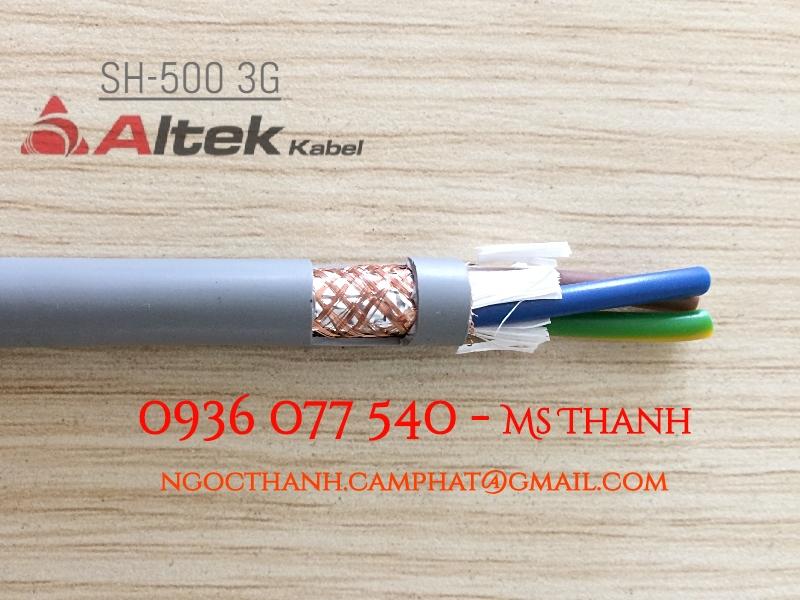 Cáp điều khiển có lưới chống nhiễu 3X0.5 SQmm - Altek Kabel