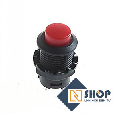 Nút nhấn tự giữ 12mm màu đỏ
