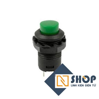 Nút nhấn tự giữ 12mm màu xanh