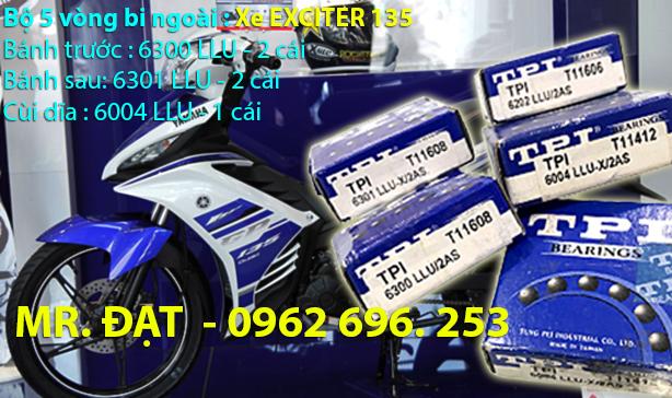 Xe EXCITER 135 - Bộ 5 vòng bi TPI