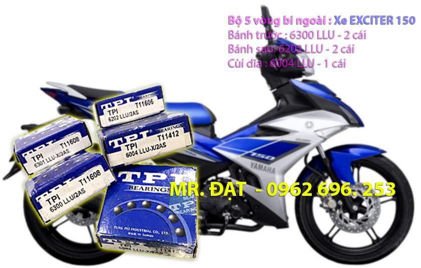 Xe EXCITER 150 - Bộ 5 vòng bi TPI