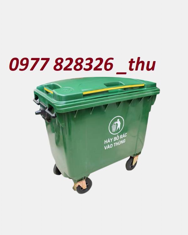 thùng rác 660l HDPE giá rẻ