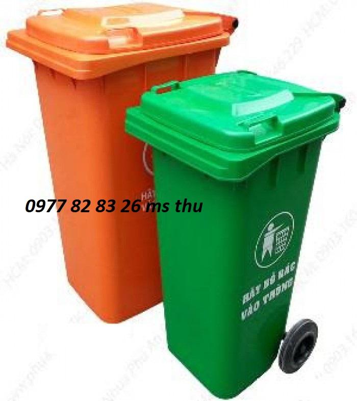 thùng rác giá rẻ-thùng rác 120l tại Bình Dương