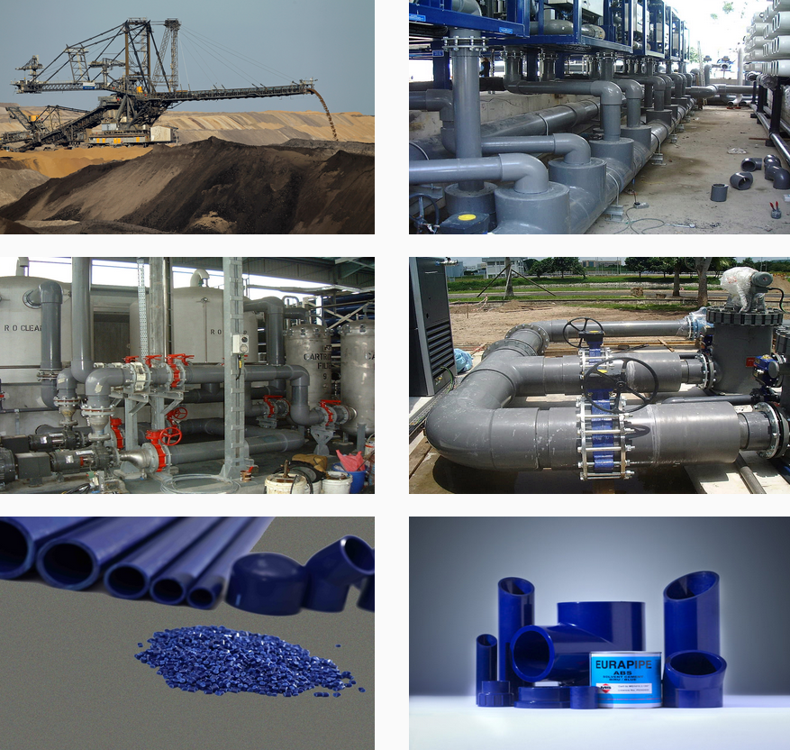 Ống nhựa ABS - dùng cho nhiệt điện, xử lý nước, nước chiller
