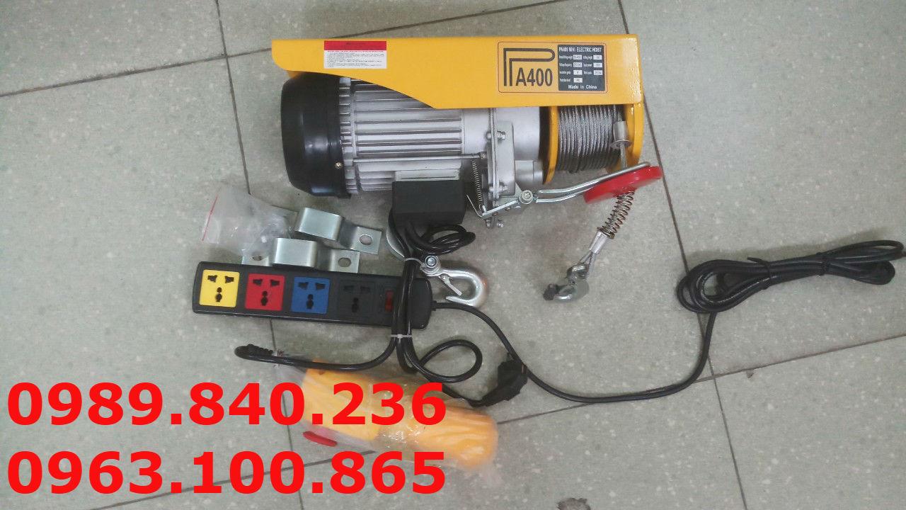 Tời điện mini Pa 400 - 12 mét cáp