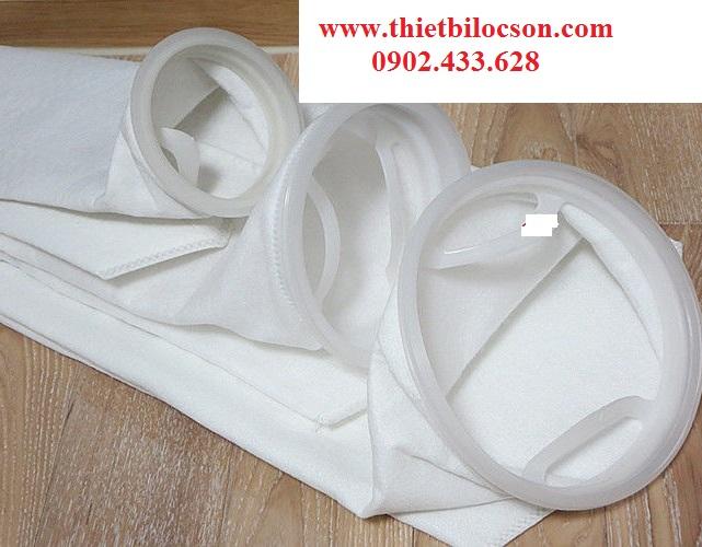 Túi vải size 2 chất liệu PP lọc nước hồ bơi, nước biển, ao nuôi thủy sản, nước giếng khoan