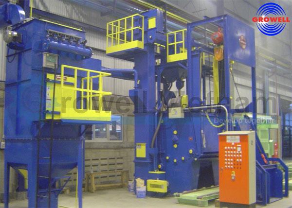 Máy phun bi trong xưởng đúc