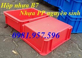 Hộp nhựa B7, thùng nhựa hình chữ nhật, khay đựng linh kiện, thùng nhựa cao 12cm