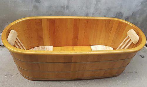 Bồn tắm gỗ Pơ mu cao cấp giá rẻ Tâm Việt