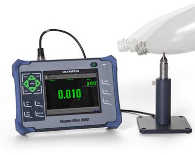 máy đo chiểu dày chai nhựa magnamike 8600