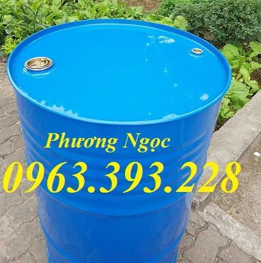 Thùng phuy sắt nắp kín 220L, thùng phuy đựng hóa chất, thùng phuy cũ mới