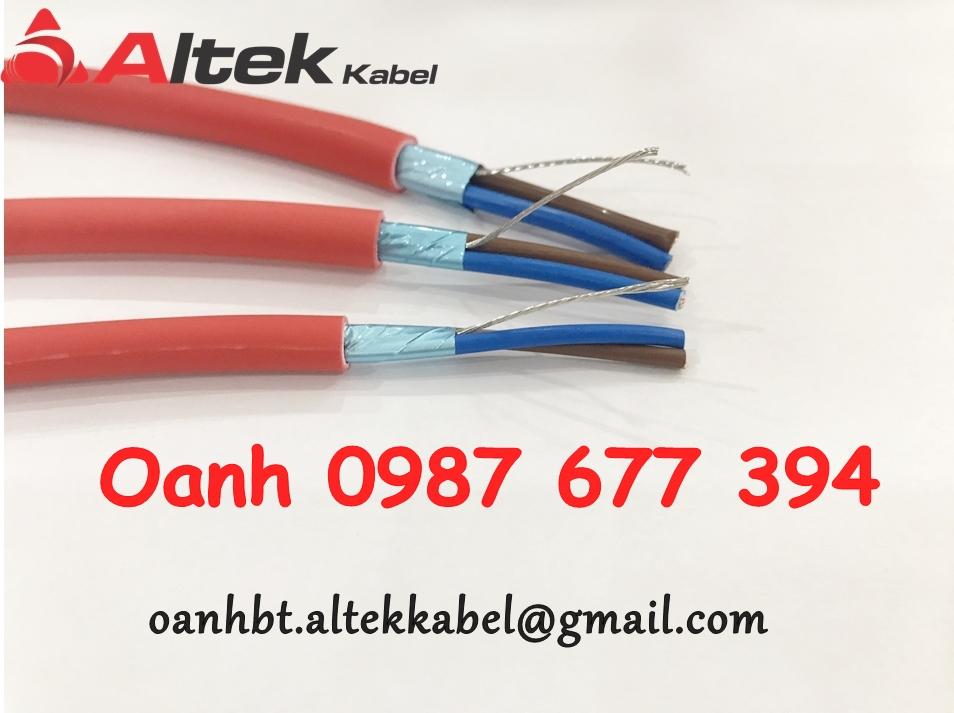 Cáp chống cháy chống nhiễu Altek Kabel 2c x 1.5mm2, 2c x 1.0mm2, 2c x 2.5m2