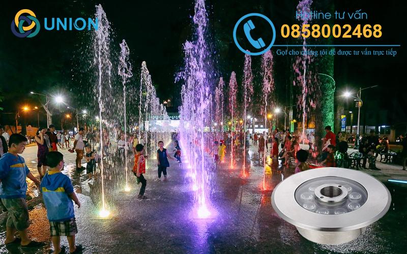 Đèn LED âm nước spotlight inox bảo hành 24 tháng