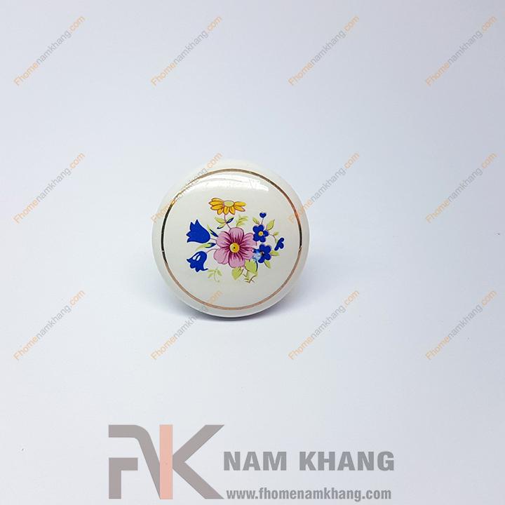 Núm nắm tủ sứ NK302-ST (Màu Trắng)
