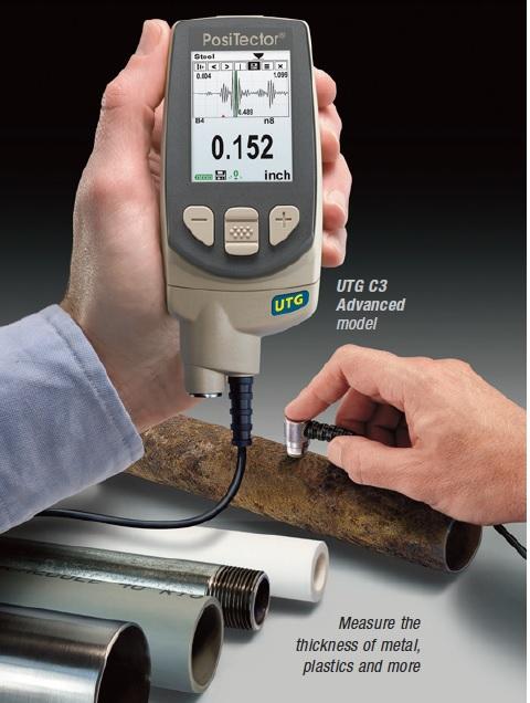 Máy đo chiều dày thép, đo chiều dày nhựa, đo chiều dày thủy tinh