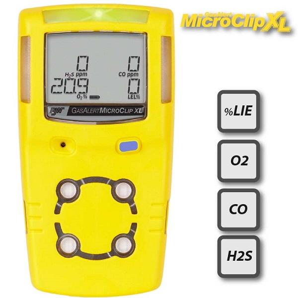 Máy đo khí đa chỉ tiêu GasAlertMicroClip XL LEL/O2/CO/H2S