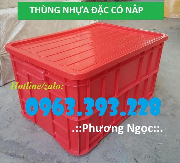 Thùng nhựa đặc cao 31 có nắp, thùng đựng phụ tùng cơ khí