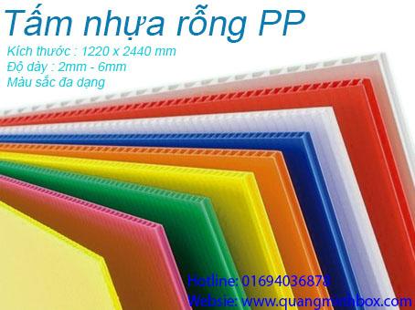 Tấm nhựa PP rỗng - Nhựa PP