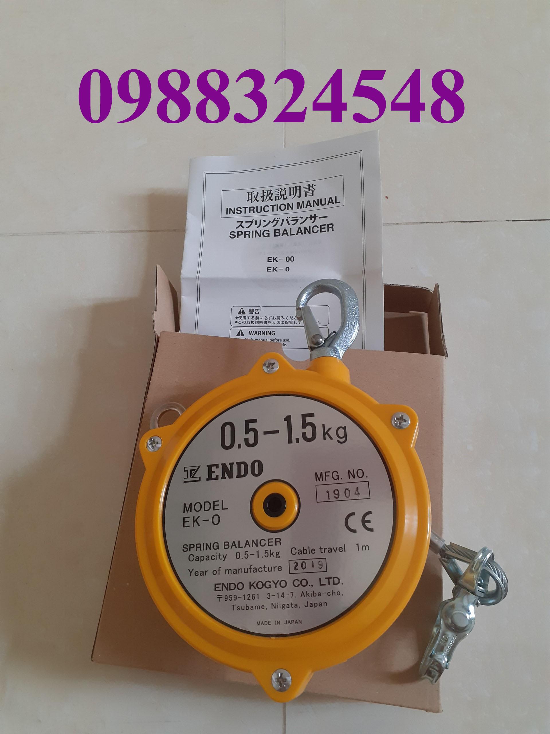 Pa lăng cân bằng Endo EK-0, tải trọng: 0.5-1.5kg