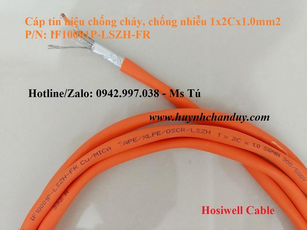 IF10001P-LSZH-FR - Cáp chống cháy Cu/Mica Tape/XLPE/OSCR/LZH 1x2Cx1.0mm2, 500m/cuộn - Hosiwell Cable/Thái Lan