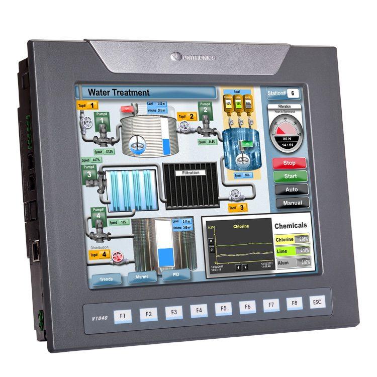 Bộ lập trình PLC tích hợp màn hình HMI 10.4 inch Vision1040