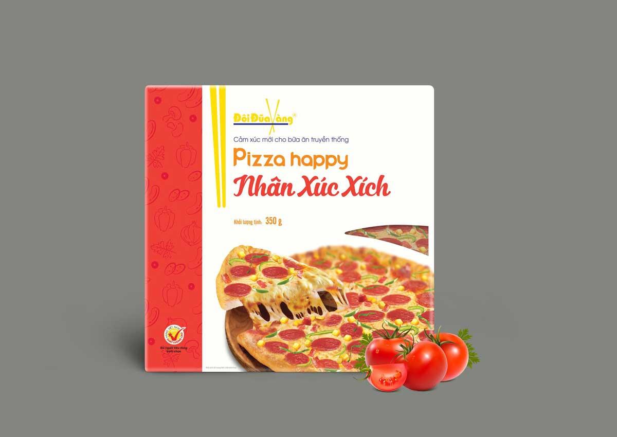 Bánh pizza xúc xích