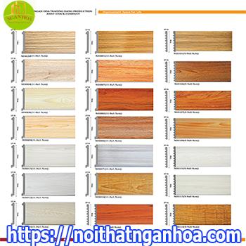 Báo giá các loại tấm nhựa ốp tường màu vân gỗ