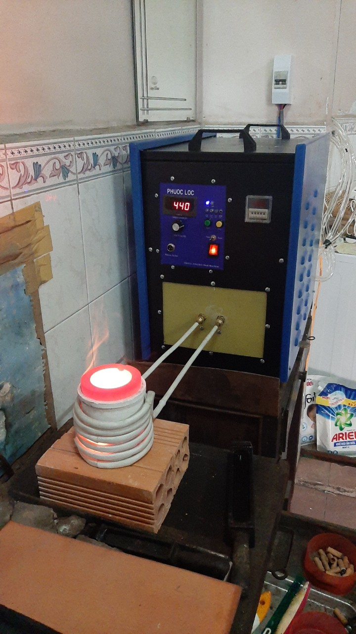 máy nấu vàng cao tần 15kva