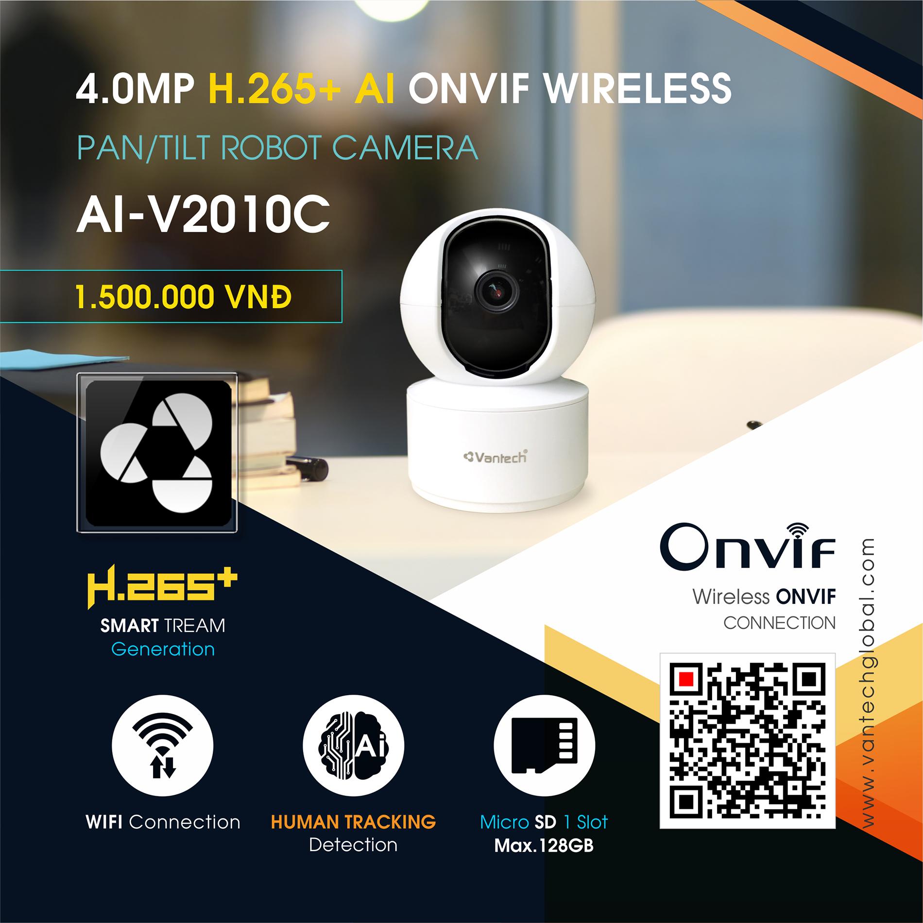 Vantech Camera Onvif Robot 4.0MP AI-V2010C