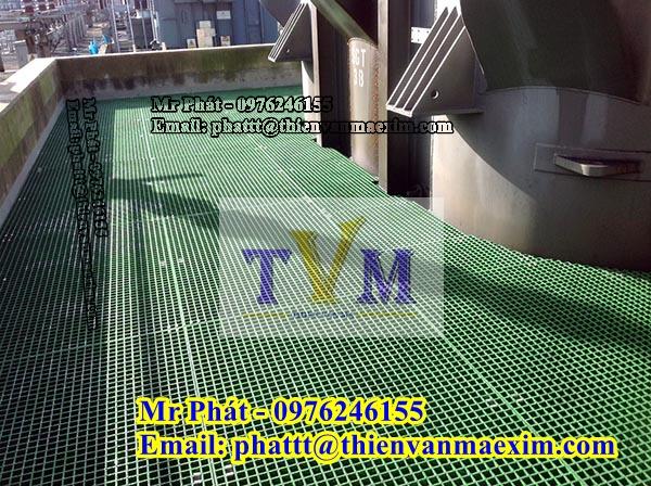 Fiberglass grating product, Tấm sàn lưới sợi thủy tinh Frp grating