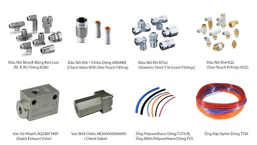 thiết bị khí nén SMC, xy lanh khí SMC, van điều khiển