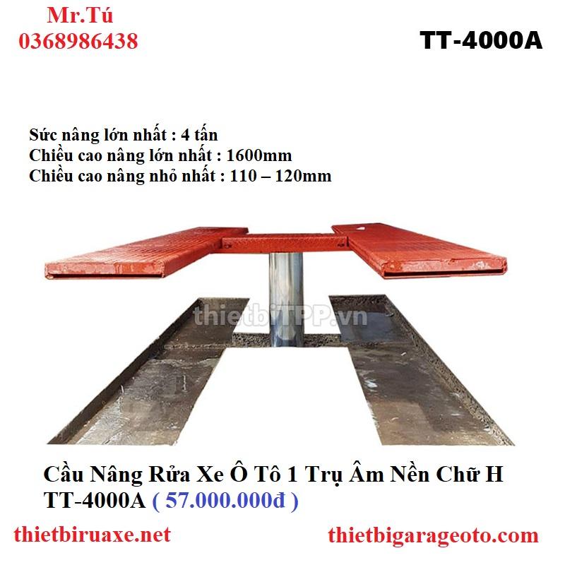 Cầu Nâng Rửa Xe Ô Tô 1 Trụ Âm Nền Chữ H TT-4000A
