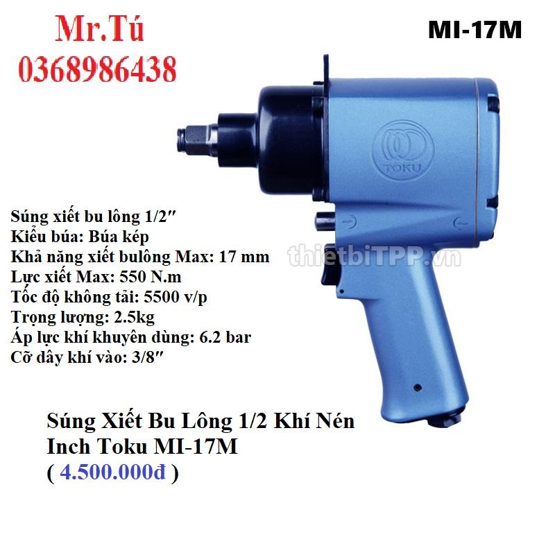Súng Xiết Bu Lông 1/2 Inch Toku MI-17M