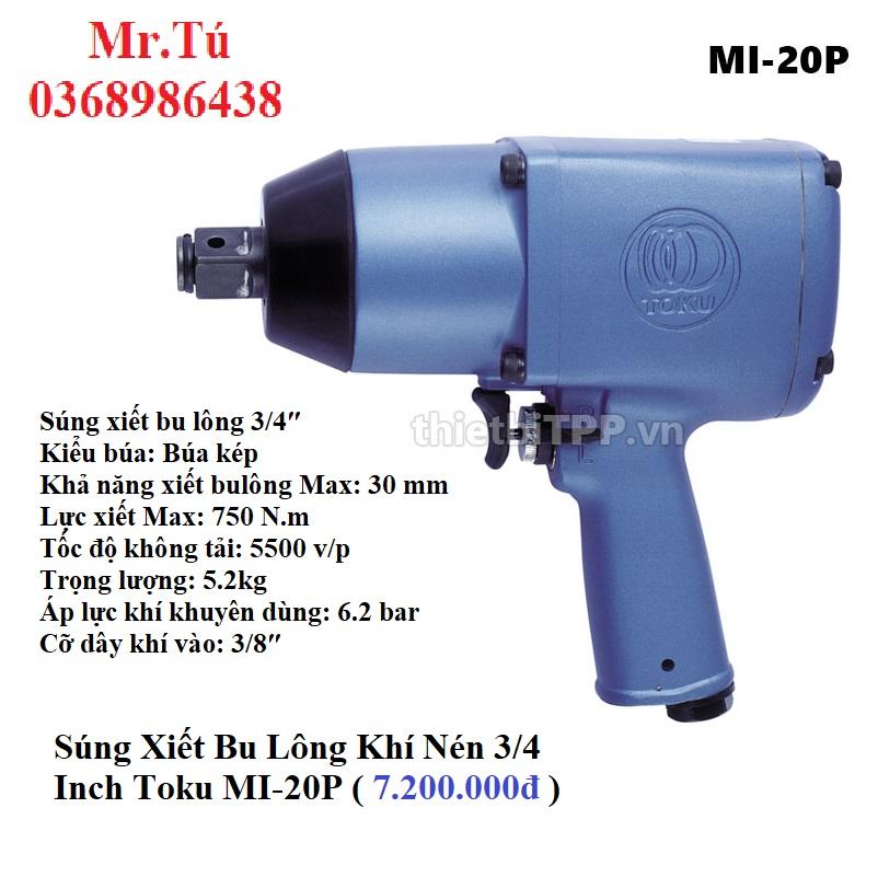 Súng Xiết Bu Lông 3/4 Inch Toku MI-20P