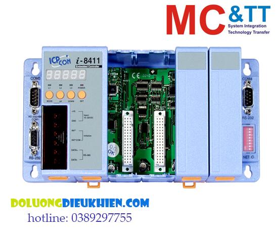 I-8411: Bộ điều khiển lập trình nhúng PAC CPU 80188 + OS MiniOS7 + 4 cổng RS-232/485 + 4 cổng I/O Expansion ICP DAS