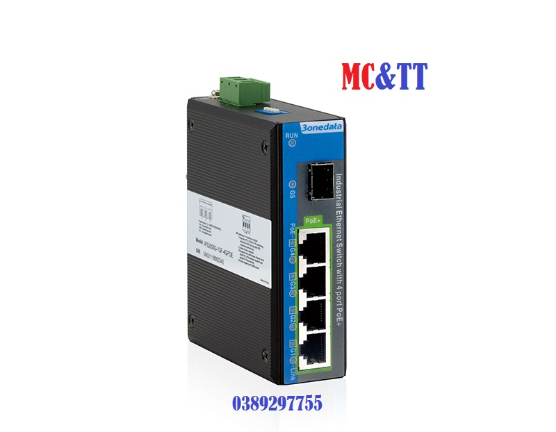 IPS2000G-1GS-4GPOE Switch công nghiệp 4 cổng PoE Gigabit Ethernet + 1 cổng quang Gigabit SFP