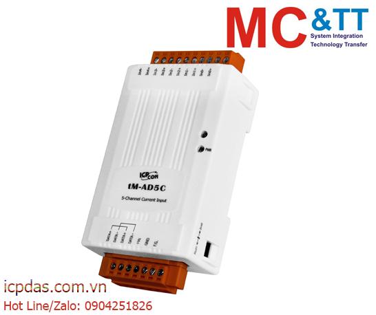 tM-AD5C Tính năng  Module RS-485 DCON & Modbus 5 kênh đầu vào tương tự (AI) ICP DAS