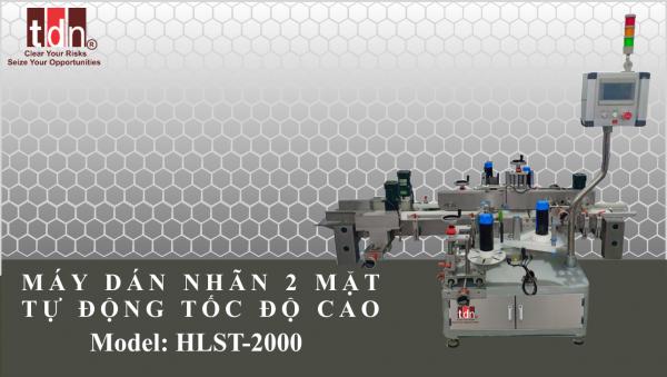Máy dán nhãn chai vuông chai dẹp HLST 2000