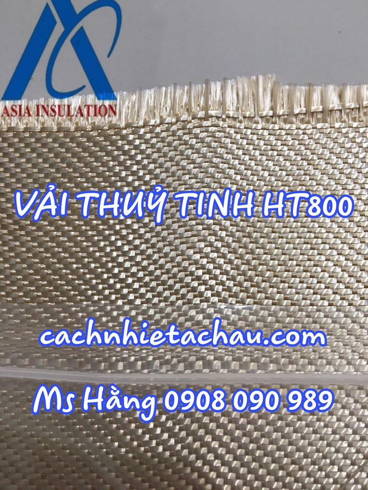 Vải thủy tinh chống cháy HT800 chống cháy tia hàn- HT800 (1m x 50m x 1mm)