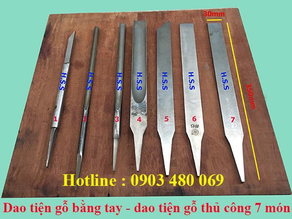 Dao tiện gỗ bằng tay, dao tiện gỗ thủ công