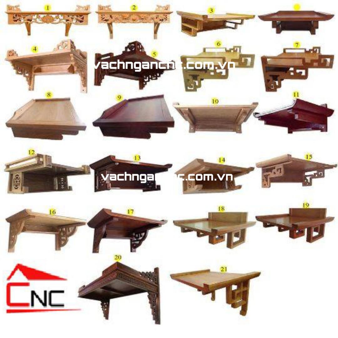 Mẫu bàn thờ-kệ thờ treo tường gỗ đẹp-hiện đại -tphcm